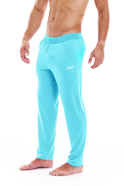 Modus Vivendi Peace Pants 04062-AQ Aqua - Mens Lounge Pants - Side View - Topdrawers Clothing for Men