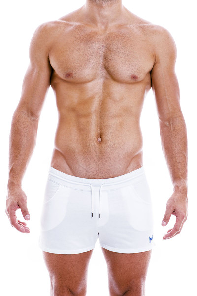 Modus Vivendi Peace Shorts 04061-WH White - Mens Shorts - Front View - Topdrawers Clothing for Men