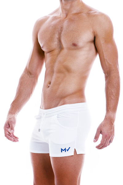 Modus Vivendi Peace Shorts 04061-WH White - Mens Shorts - Side View - Topdrawers Clothing for Men