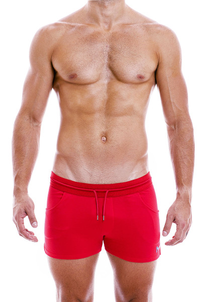 Modus Vivendi Peace Shorts 04061-RD Red - Mens Shorts - Front View - Topdrawers Clothing for Men