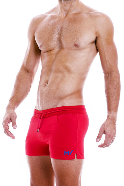 Modus Vivendi Peace Shorts 04061-RD Red - Mens Shorts - Side  View - Topdrawers Clothing for Men