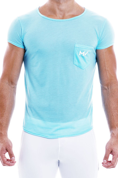 Modus Vivendi Peace T-Shirt 04041-AQ Aqua - Mens T-Shirt Tops - Front View - Topdrawers Clothing for Men