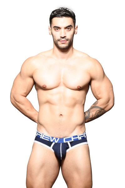 Andrew Christian Show-It Brief 91643-NV Navy Blue - Mens Briefs - Front View - Topdrawers Underwear for Men