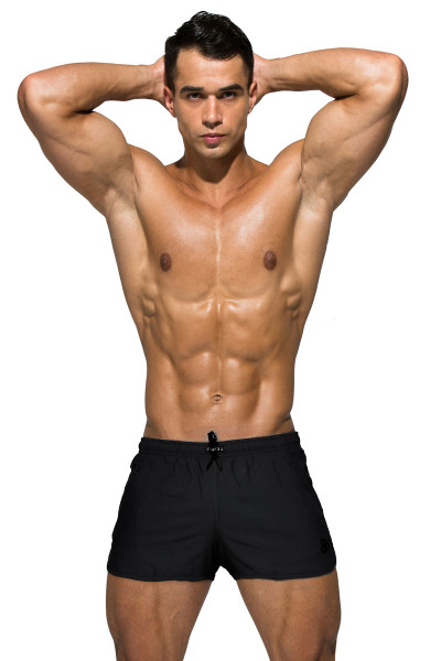Private Structure BeFit Sweat Athletic Shorts BSBY4059-BL Black - Mens Athletic Shorts - Front View - Topdrawers Clothing for Men