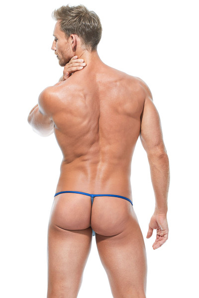 Gregg Homme Feel It String 172814-ROY Royal Blue - Mens G-String Thongs - Rear View - Topdrawers Underwear for Men