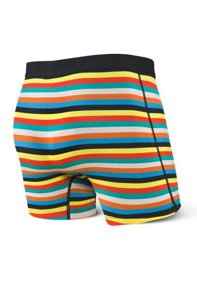 Saxx Vibe Boxer Brief | Multi Pop Stripe SXBM35-MPS - Mens Boxer Briefs - Rear View - Topdrawers Underwear for Men