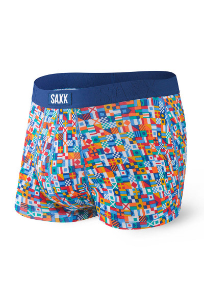 Saxx Undercover Trunk w/ Fly | Blue Yacht Rock 101 SXTR19F-YRL - Mens Trunk Boxers - Front View - Topdrawers Underwear for Men