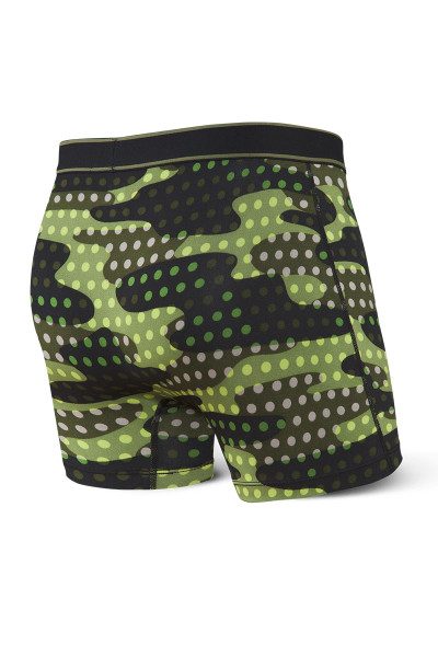 Saxx Daytripper Boxer Brief w/ Fly | Black Polka Camo SXBB11F-PBC - Mens Boxer Briefs - Rear View - Topdrawers Underwear for Men