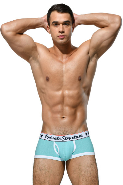 Private Structure Classic Trunk SCUX4070-IBU Ice Blue - Mens Trunk Boxer Briefs - Front View - Topdrawers Underwear for Men