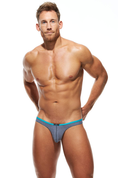 Gregg Homme Feel It Thong 172804-GR Grey - Mens Thongs - Front View - Topdrawers Underwear for Men