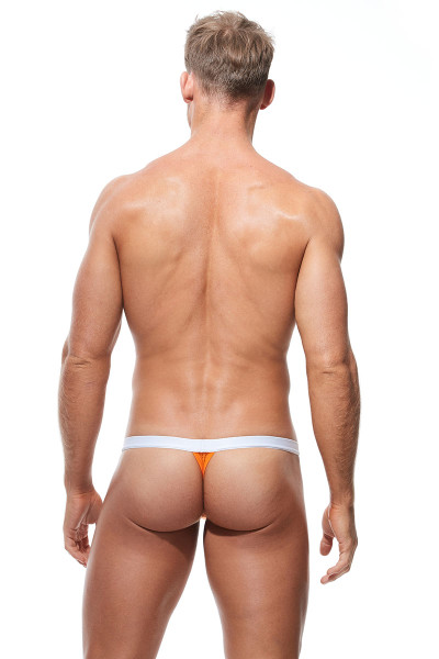 Gregg Homme Push Up 4.0 Thong 180404-OR Orange - Mens Enhancement Thongs - Rear View - Topdrawers Underwear for Men