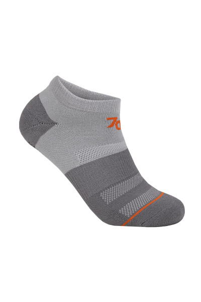 2UNDR 70 Performance Ankle Sock Grey Grey 2U40AS-GGY - Mens Athletic Socks - Front View - Topdrawers Underwear for Men