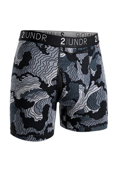 2UNDR Swing Shift Boxer Brief Tsunami 2U01BB-128 - Mens Boxer Briefs - Front View - Topdrawers Underwear for Men