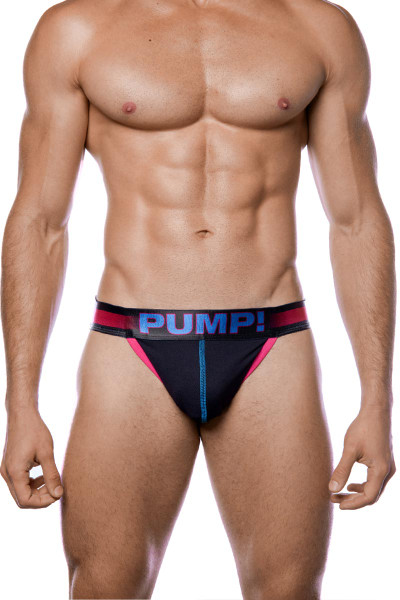 PUMP! PLAY Fuchsia Side Cut Brief 12056 - Mens Tanga Briefs - Front View - Topdrawers Underwear for Men