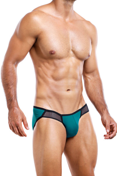 Intymen Brief INJ035-GJBL Green Jade Black  - Mens Briefs - Side View - Topdrawers Underwear for Men