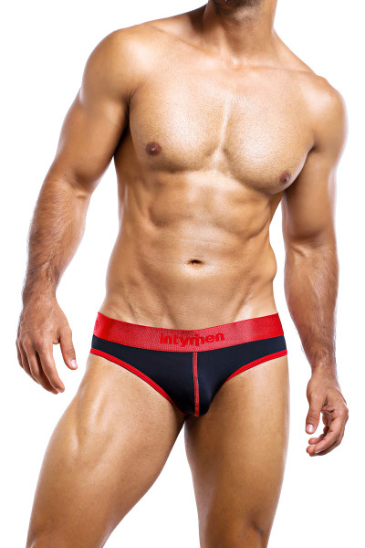 Intymen Jockstrap INE011-BL Black  - Mens Jockstraps - Front View - Topdrawers Underwear for Men