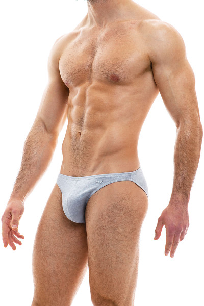 Modus Vivendi Cannabis Low Cut Brief 09013-1-SMGR Smoke Grey - Mens Briefs - Side View - Topdrawers Underwear for Men