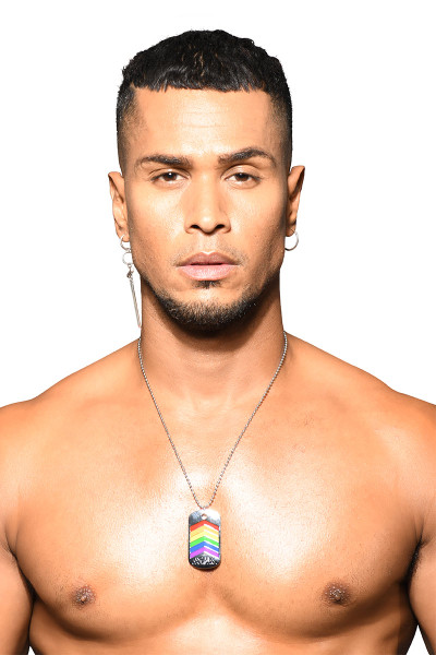 Andrew Christian Pride Dog Tag 8508 - Mens Necklaces - Front View - Topdrawers Apparel for Men