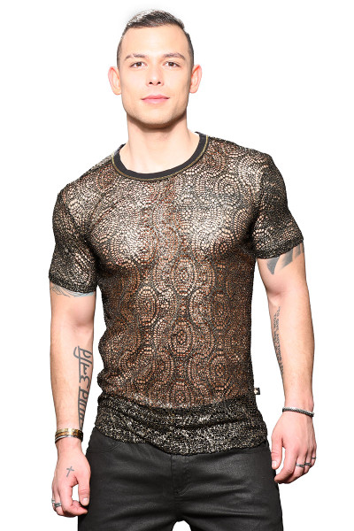 Andrew Christian El Dorado Mesh Tee 10303 - Mens T-Shirts - Front View - Topdrawers Clothing for Men