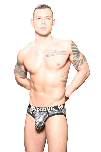 Andrew Christian MASSIVE Glitz Brief 91717 - Mens Briefs - Front View - Topdrawers Underwear for Men