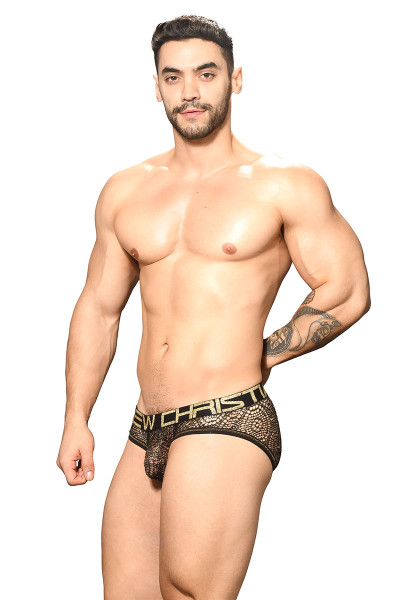 Andrew Christian El Dorado Mesh Brief w/ Almost Naked 91753 - Mens Briefs - Side View - Topdrawers Underwear for Men