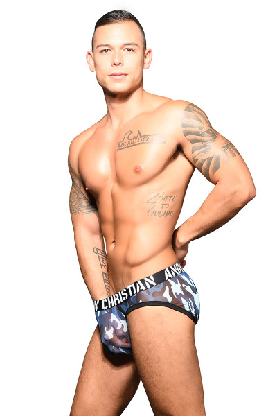 Andrew Christian Troop Sheer Brief w/ Almost Naked 91686 - Mens Briefs - Side View - Topdrawers Underwear for Men