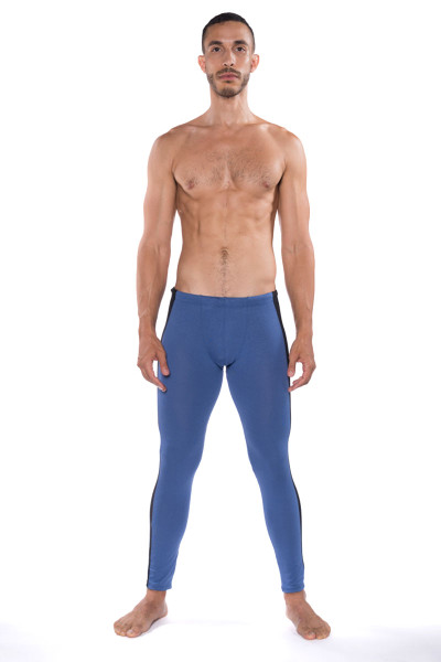 Go Softwear B2E Tights 3373-DE Denim - Mens Long Underwear - Front View - Topdrawers Underwear for Men