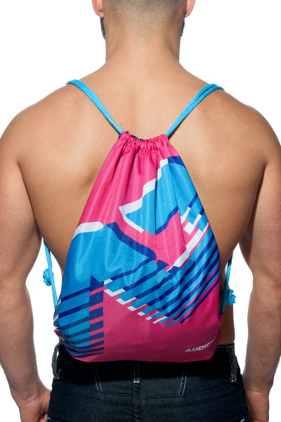 Addicted AD Reversible Backpack AD658-24 Fuchsia - Mens Bags - Front View - Topdrawers Apparel for Men