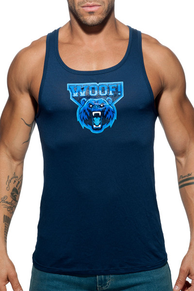 Addicted Woof Tank Top AD603-09 Navy Blue - Mens Tank Tops - Front View - Topdrawers Clothing for Men