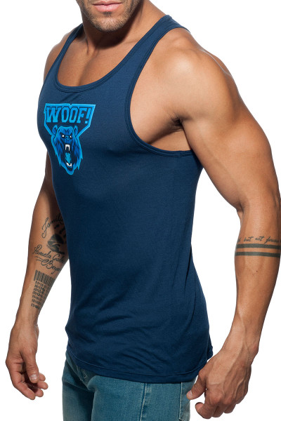 Addicted Woof Tank Top AD603-09 Navy Blue - Mens Tank Tops - Side View - Topdrawers Clothing for Men