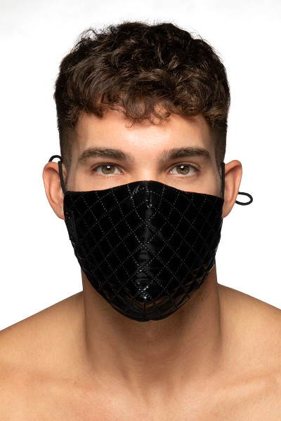 ES Collection Dystopia Mask AC122-10 Black - Mens Reusable Face Masks - Front View - Topdrawers Protective Gear for Men