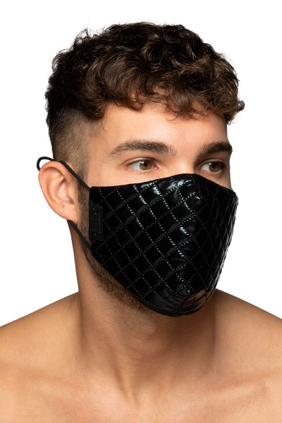 ES Collection Dystopia Mask AC122-10 Black - Mens Reusable Face Masks - Side View - Topdrawers Protective Gear for Men