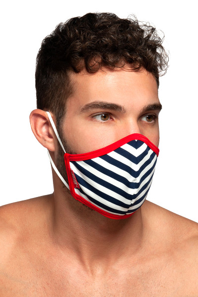 ES Collection Sailor Mask AC103-06 Red - Mens Reusable Face Masks - Side View - Topdrawers Protective Gear for Men