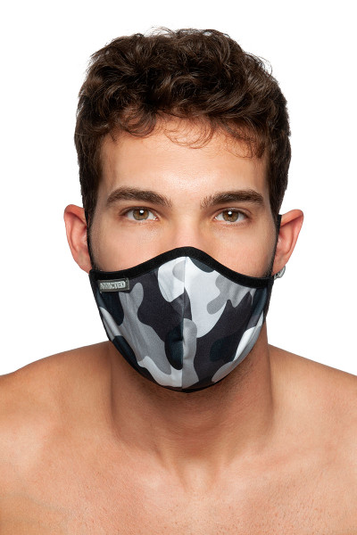 Addicted Camo Mask AC087-17M0 Camouflage - Mens Reusable Face Masks - Front View - Topdrawers Protective Gear for Men
