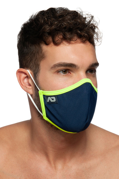 Addicted Spider Mask AC106-09 Navy Blue - Mens Reusable Face Masks - Side View - Topdrawers Protective Gear for Men
