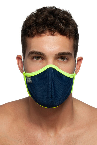 Addicted Spider Mask AC106-09 Navy Blue - Mens Reusable Face Masks - Front View - Topdrawers Protective Gear for Men