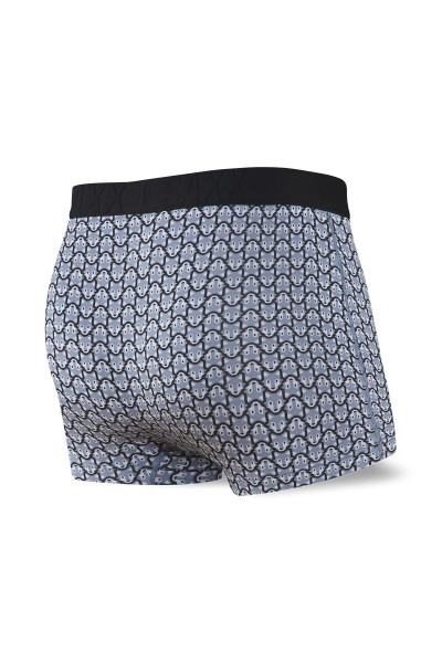 Saxx Undercover Trunk w/ Fly | Grey Wolfpack SXTR19F-GWP - Mens Boxer Briefs - Rear View - Topdrawers Underwear for Men