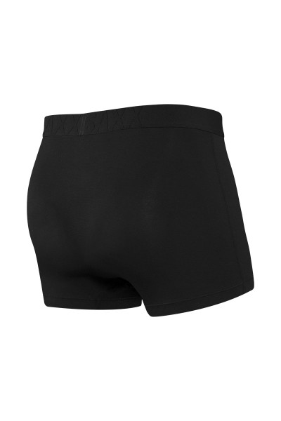 Saxx Ultra Trunk w/ Fly | Black/Black SXTR30F-BBB - Mens Boxer Briefs - Rear View - Topdrawers Underwear for Men