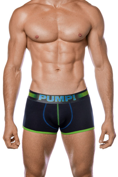 PUMP! PLAY Green Boxer 11093 - Mens Boxer Briefs - Front View - Topdrawers Underwear for Men