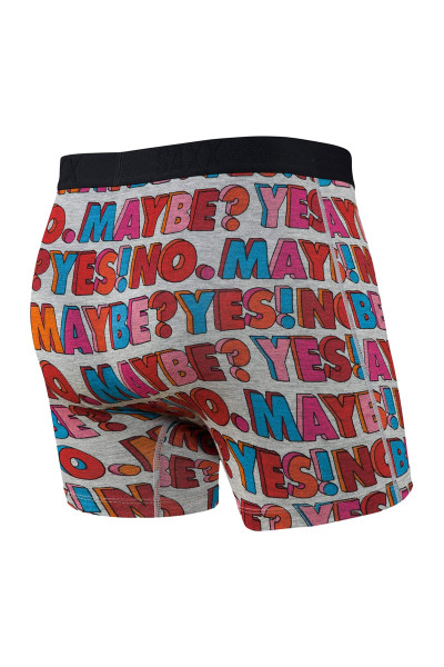Saxx Vibe Boxer Brief | Yes No Maybe SXBM35-YNM - Mens Boxer Briefs - Rear View - Topdrawers Underwear for Men