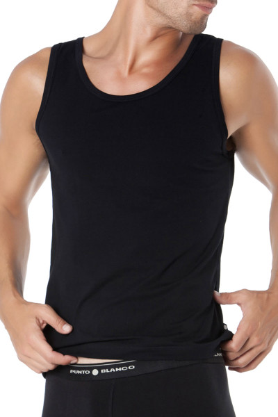 Punto Blanco Singlet Basix 5317620-090 - Mens Tank Tops - Front View - Topdrawers Underwear for Men