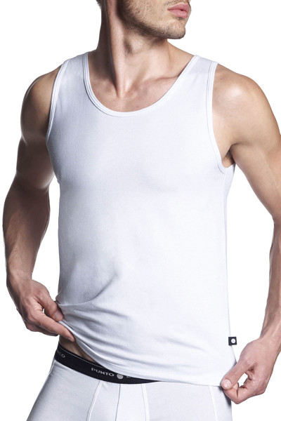 Punto Blanco Singlet Basix 5317620-000 - Mens Tank Tops - Front View - Topdrawers Underwear for Men