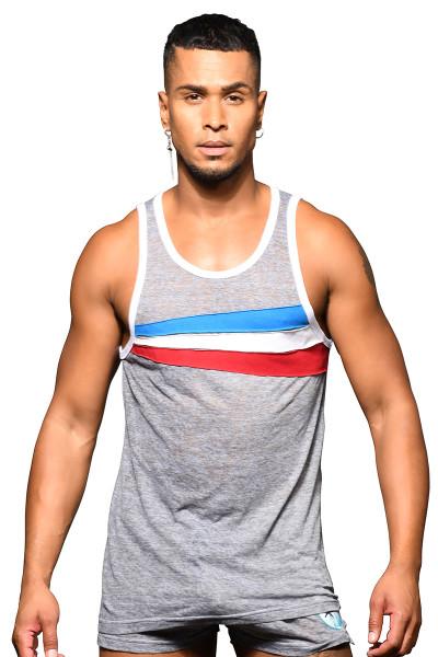 Andrew Christian California Superhero Burnout Tank 2802 - Mens Tank Tops - Front View - Topdrawers Clothing for Men