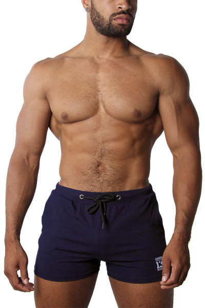 CellBlock 13 Relay Short CBS207-NV Navy Blue - Mens Athletic Shorts - Front View - Topdrawers Clothing for Men