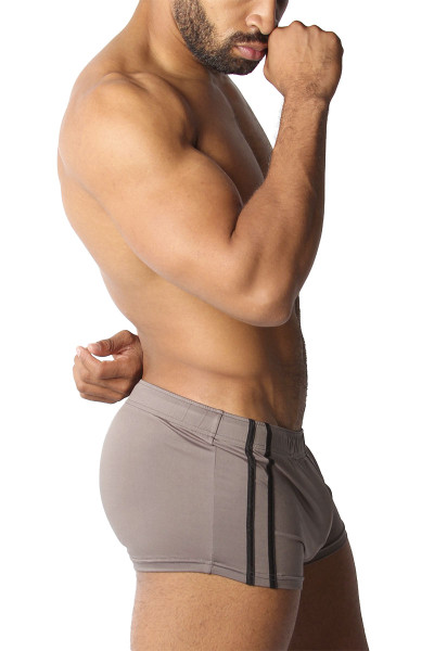 CellBlock 13 Cyclone 2.0 Short w/ Cock Pouch CBS223-GR Grey - Mens Athletic Shorts - Side View - Topdrawers Clothing for Men