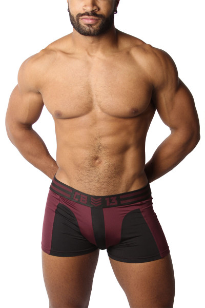 CellBlock 13 Cyclone 2.0 Trunk CBU269-BUR Burgundy - Mens Boxer Briefs - Front View - Topdrawers Underwear for Men