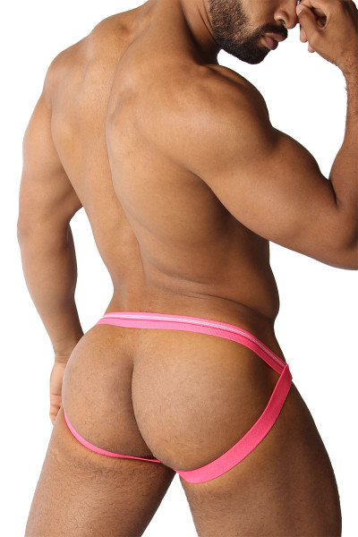 CellBlock 13 Tight End Swimmer Jockstrap CBU270-PK Pink - Mens Jockstraps - Side View - Topdrawers Underwear for Men