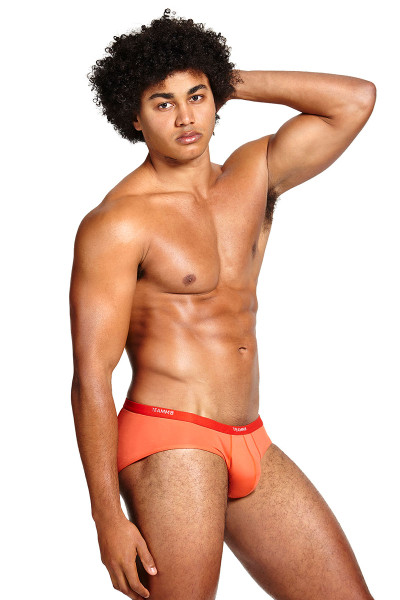 Teamm8 MicroMax Brief TU-MAXBR-TOR Tangerine Orange - Mens Briefs - Side View - Topdrawers Underwear for Men
