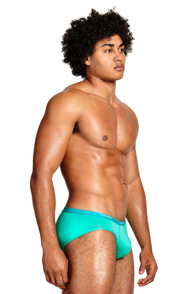 Teamm8 MicroMax Brief TU-MAXBR-TGN Tropical Green - Mens Briefs - Side View - Topdrawers Underwear for Men