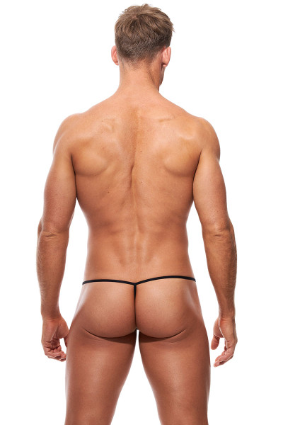 Gregg Homme Voyeur String 100614-SV Silver - Mens G-String Thongs - Rear View - Topdrawers Underwear for Men